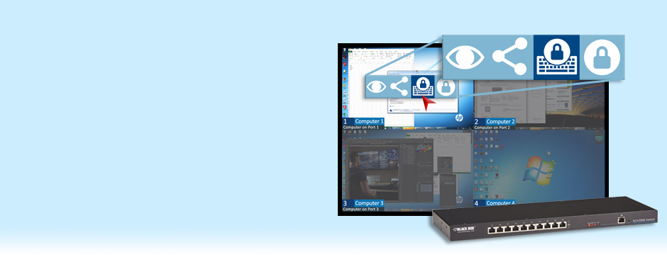 Discover the award-winning graphical user interface of the DCX3000 compact digital KVM switch.